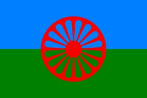 Romernas flagga (Foto: Wikimedia commons)