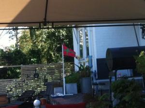 Bornholms flagga (Foto: Mikael Westerlund)