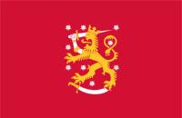 Finlands första flagga (Foto: Wikimedia Commons)