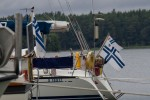 Finska sjöflaggan (Foto: Mikael Westerlund)