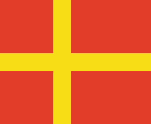 Skåneflaggan (Wikimedia Commons)