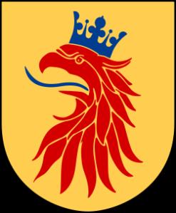 Skånes landskapsvapen (Wikimedia Commons)