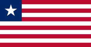 Liberias flagga (Wikimedia Commons)