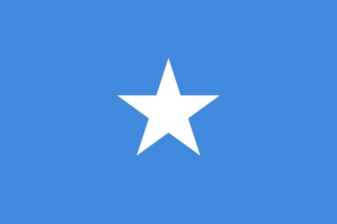 Somalias flagga (Wikimedia Commons)