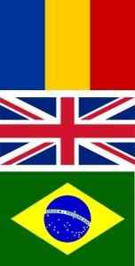 Rumänien, Storbritannien och Brasilien