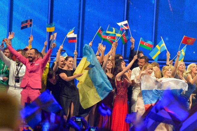 Foto på de som gick vidare från semifinal 1 i Eurovision 2014