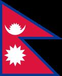 Nepals flagga är som två trekanter på varandra