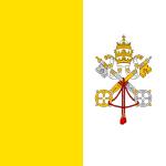 Vatikanstatens helt kvadratiska flagga