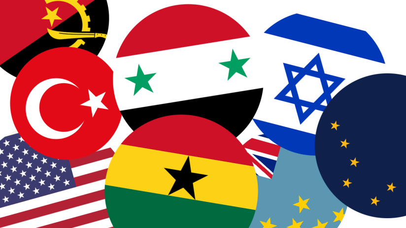 Flaggor med stjärnor