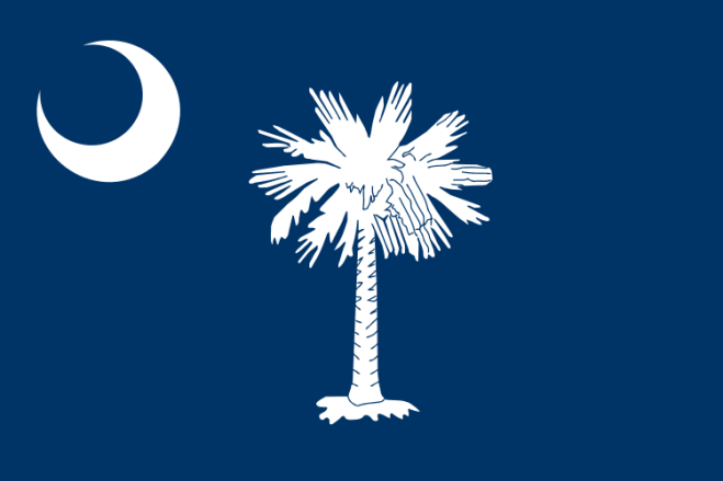 South Carolinas flagga