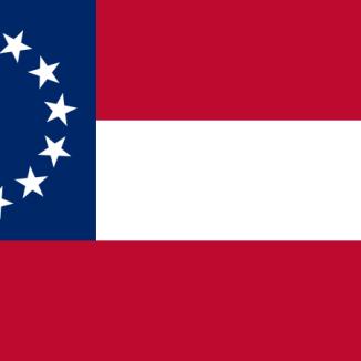 USA:s flagga med 3 ränder och 13 stjärnor