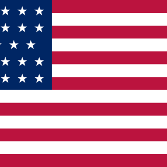 USA:s flagga med 13 ränder och 34 stjärnor