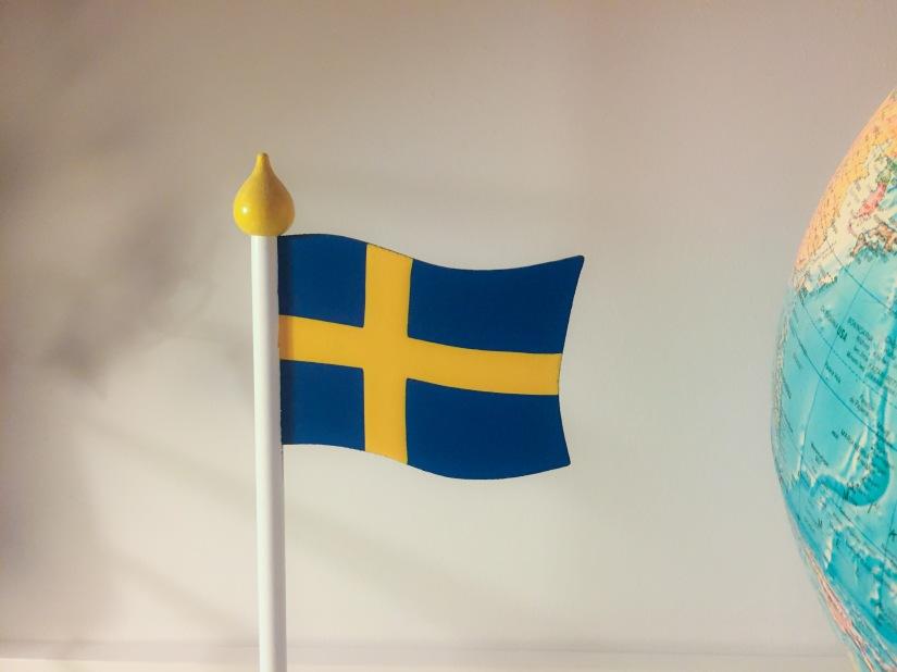 En svensk träflagga
