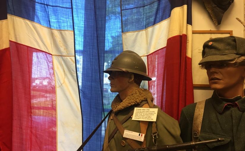 Flaggor från WWII påLofoten