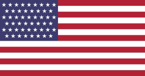 USA:s flagga med 51 stjärnor